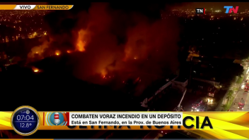 Feroz incendio en panificadora en Prov. de Buenos Aires