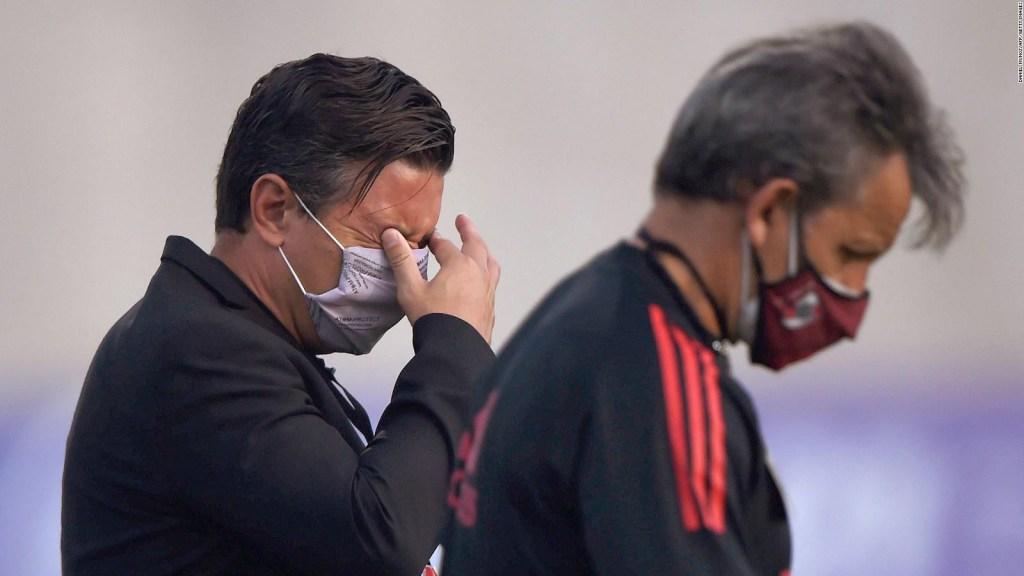 El técnico de River reacciona ante  la situación en Colombia
