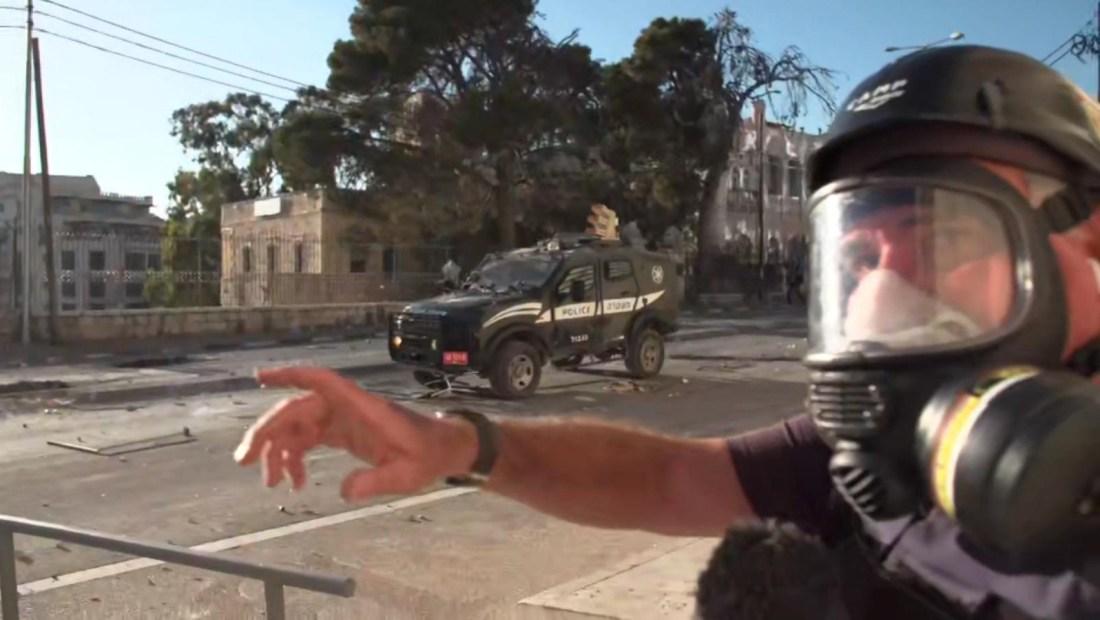 Conflicto en Gaza, entre gases lacrimógenos y piedras