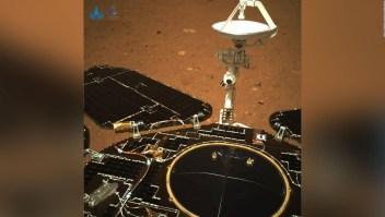El rover chino en Marte envió estas imágenes