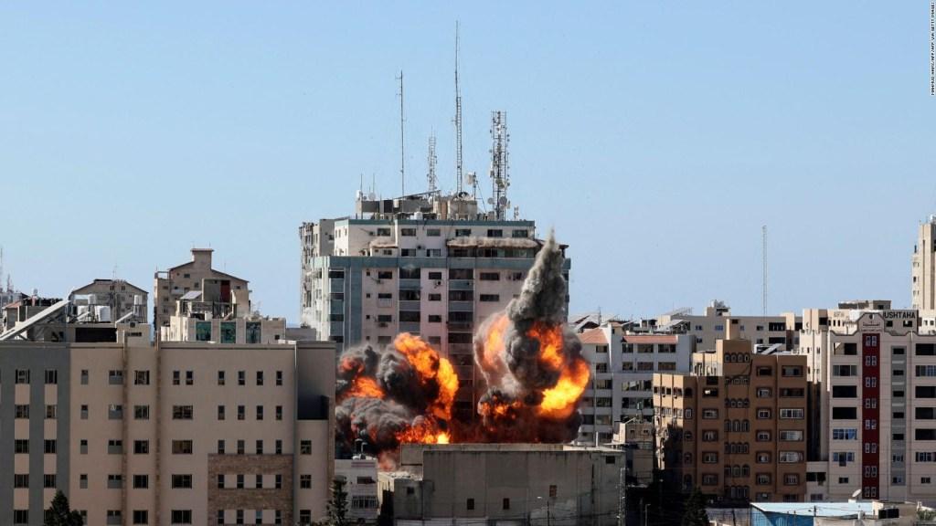 Cosa c'era nell'edificio distrutto a Gaza?