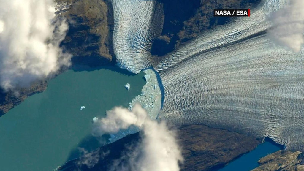 Meravigliosa immagine della Patagonia dallo spazio