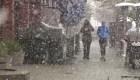 Nieve en plena primavera en California