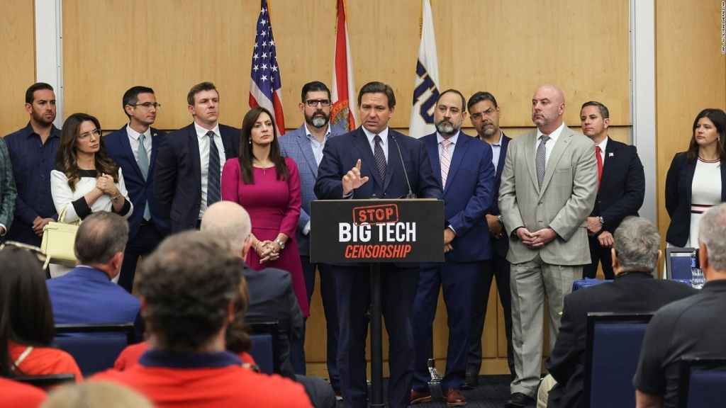 La Floride promulgue une loi contre la suspension sur les réseaux sociaux