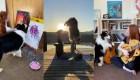 Se vuelve viral una perra que toca la guitarra y hace yoga