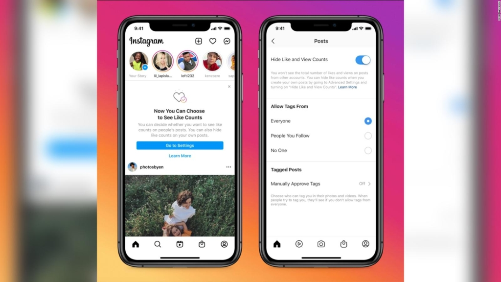"""Les """"J'aime"""" Facebook et Instagram peuvent être cachés"""