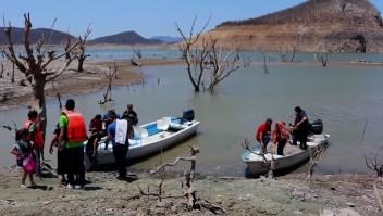 El panteón que la sequía en México dejó al descubierto