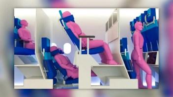 Mira este avión con asientos de dos niveles