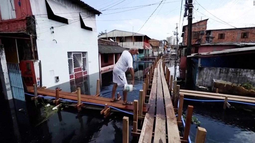 Inundaciones afectan a miles en Amazonas, Brasil