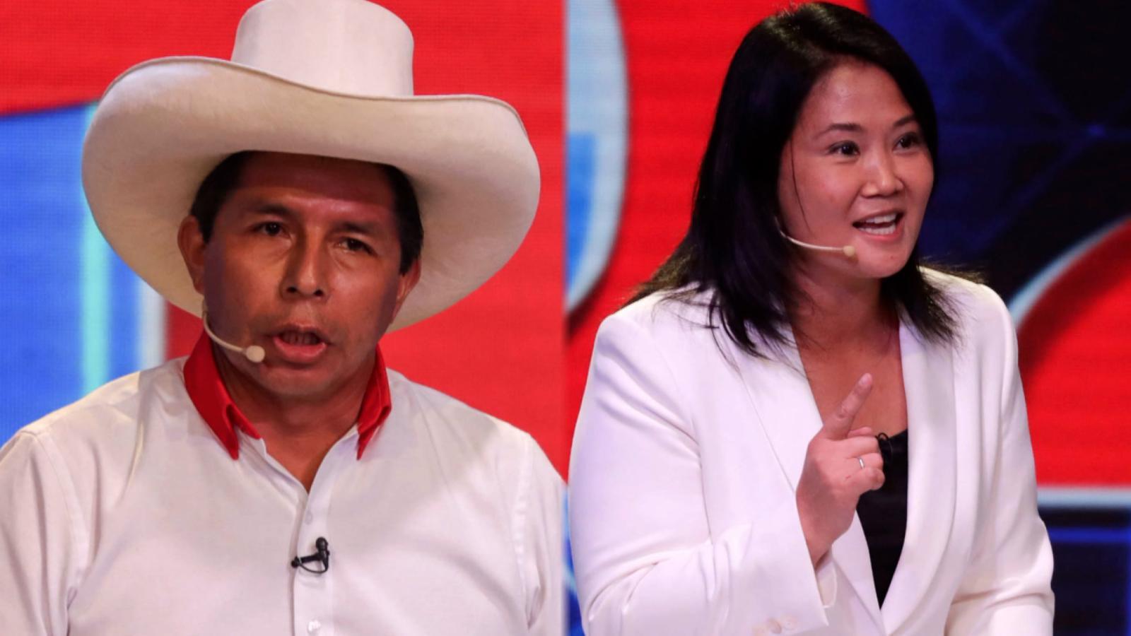 Perú: debate definitorio entre Fujimori y Castillo