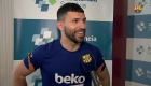 Agüero da sus primeras palabras como jugador del Barça