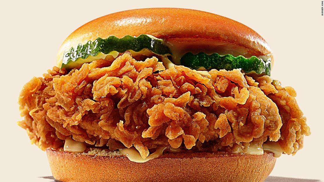 Sándwich de pollo Burger King