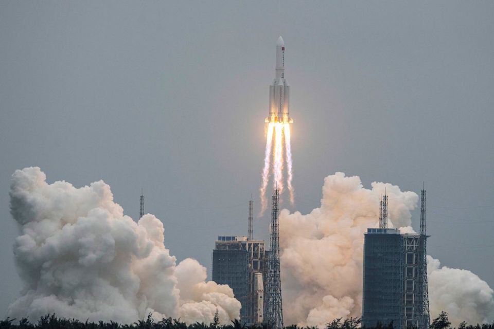 China blames US for exaggerating about Rocket