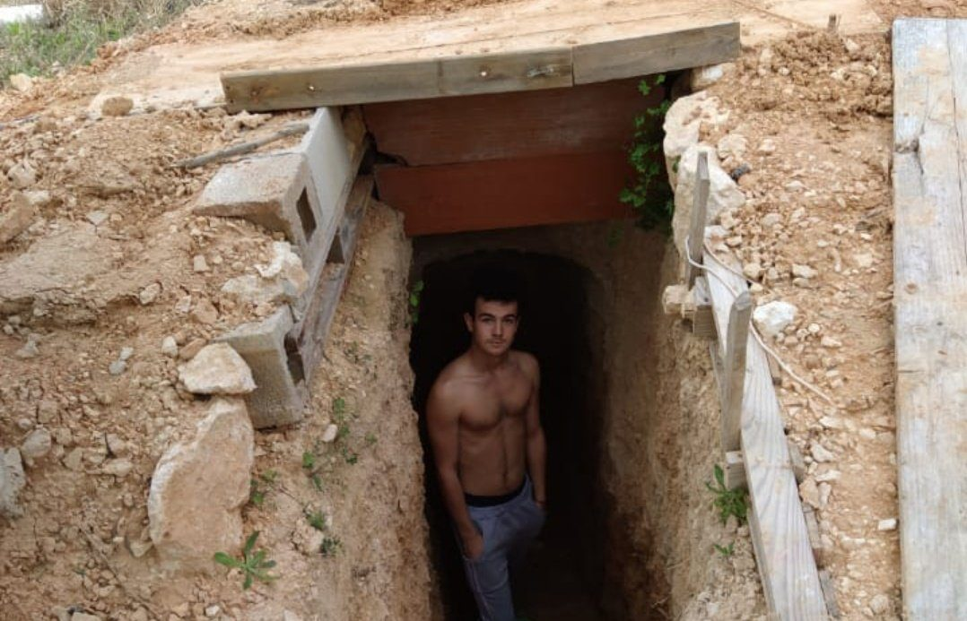 Young argued with his mother and began to dig; now he has a cave
