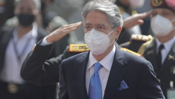 QUITO, ECUADOR - MAY 24: Newly elected President Guillermo Lasso arrives for his inauguration speech at Asamblea Nacional on May 24, 2021 in Quito, Ecuador. (Photo by Franklin Jacome/Getty Images)