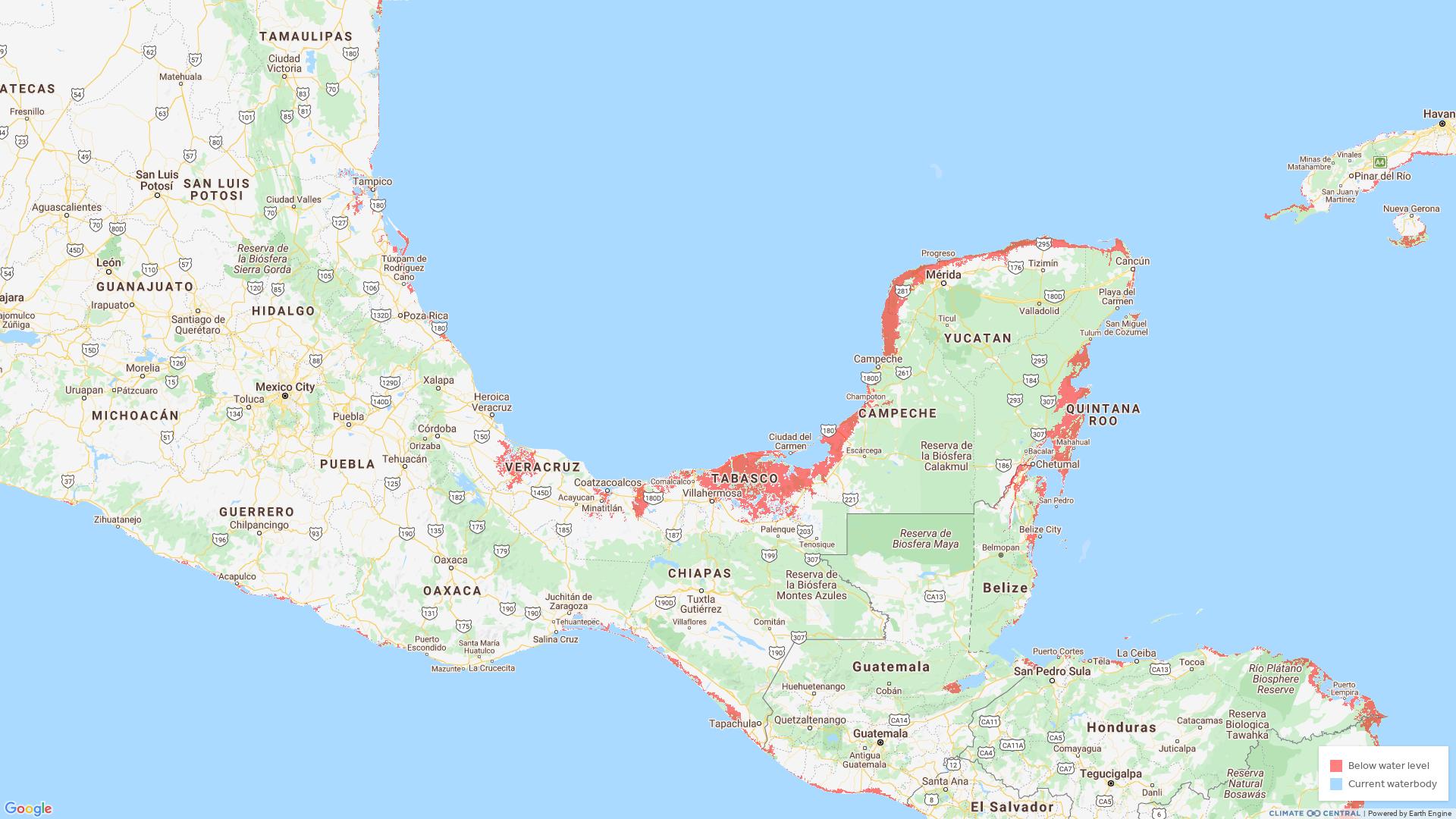 Latinoamérica quedará bajo el agua. Estos son los lugares.