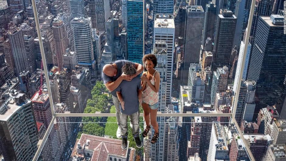 Glass elevator New York