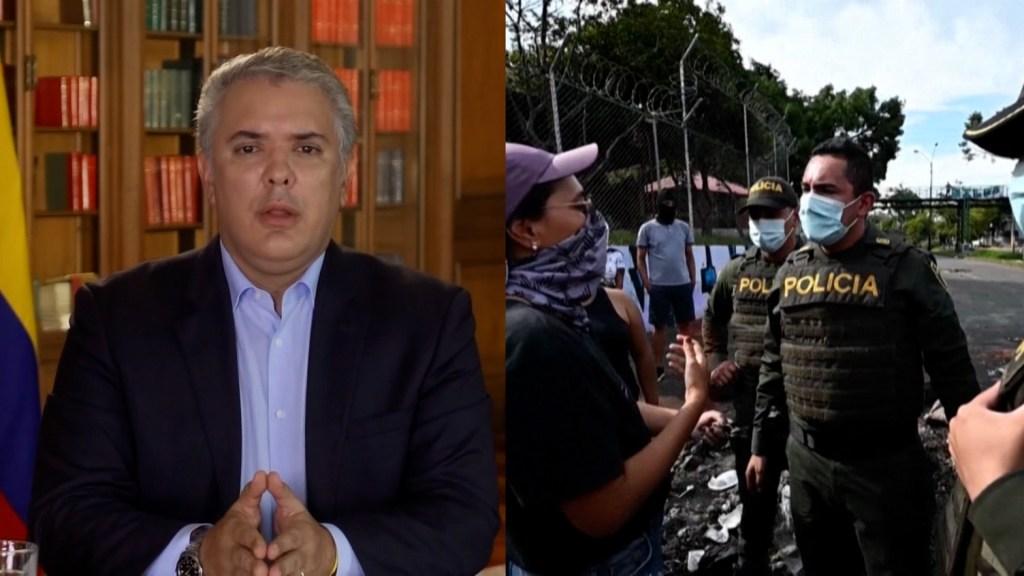 Iván Duque habla con Amanpour sobre protestas
