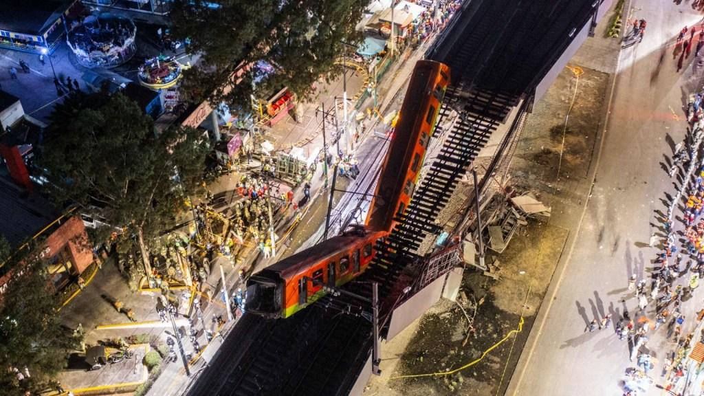 AMLO y Sheinbaum esperarán dictamen del colapso del metro