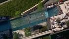 Dron muestra piscina transparente a 35 metros de altura