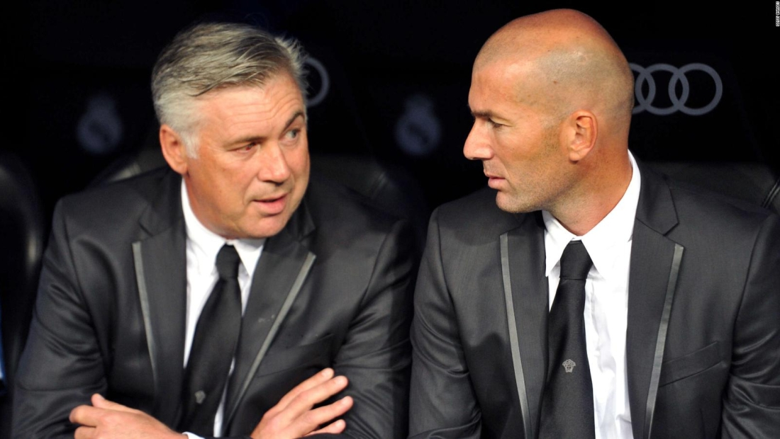 Ancelotti resaltó los logros de Zidane en el Real Madrid