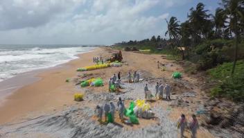 Alerta en Sri Lanka por contaminación en el mar