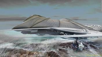 Así sería el resort de lujo sobre una isla de plástico