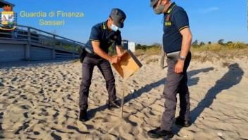 Autoridades italianas recuperan arena robada en playas