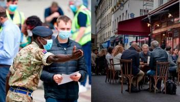Reino Unido usa al Ejército y Francia avanza en reapertura
