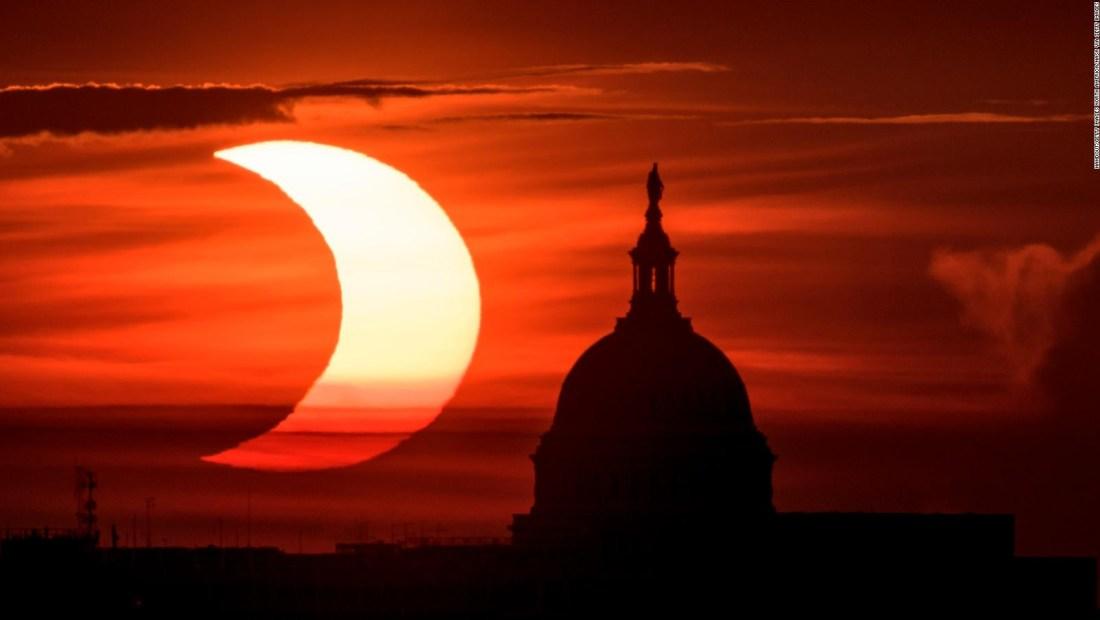 ¿Cómo se vio el eclipse 'anillo de fuego'?