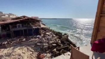 """Restaurante """"Maldive Gaza"""" reabre tras la violencia"""