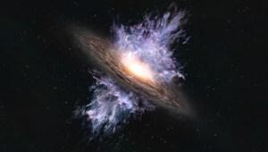 La imagen de una tormenta gigantesca de agujeros negros