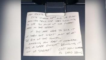 El misterioso mensaje hallado en un avión de Delta