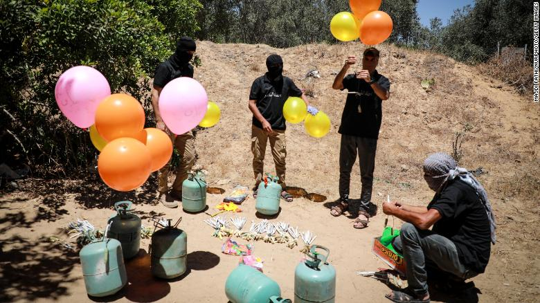 globos incendiarios Gaza