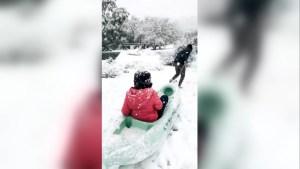 Insólita nevada en Córdoba, Argentina