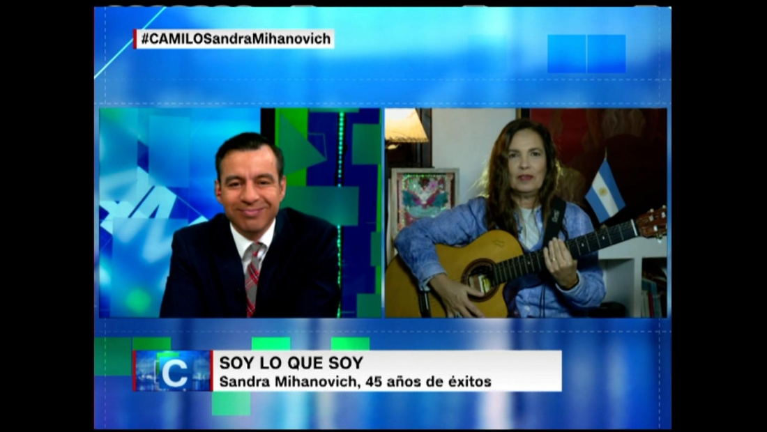 Sandra Mihanovich saca la guitarra en Camilo