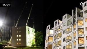Construyen un edificio de 10 pisos en menos de 29 horas