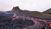Lava caliente para turistas de Islandia