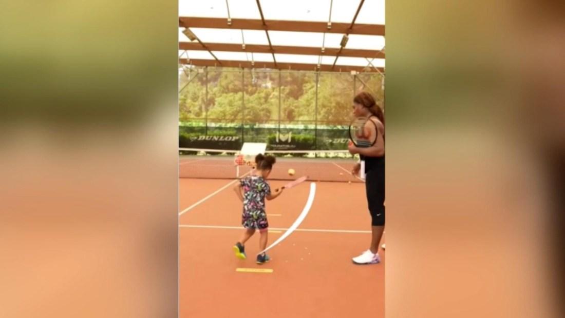 Serena Williams y el adorable juego de tenis con su hija