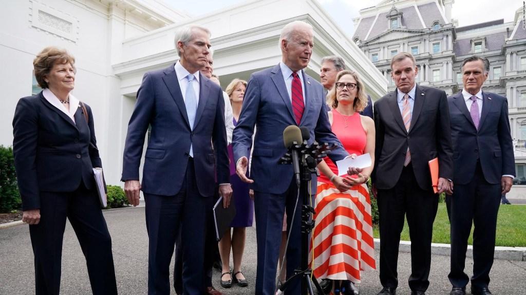 Biden celebra acuerdo bipartidista sobre infraestructura