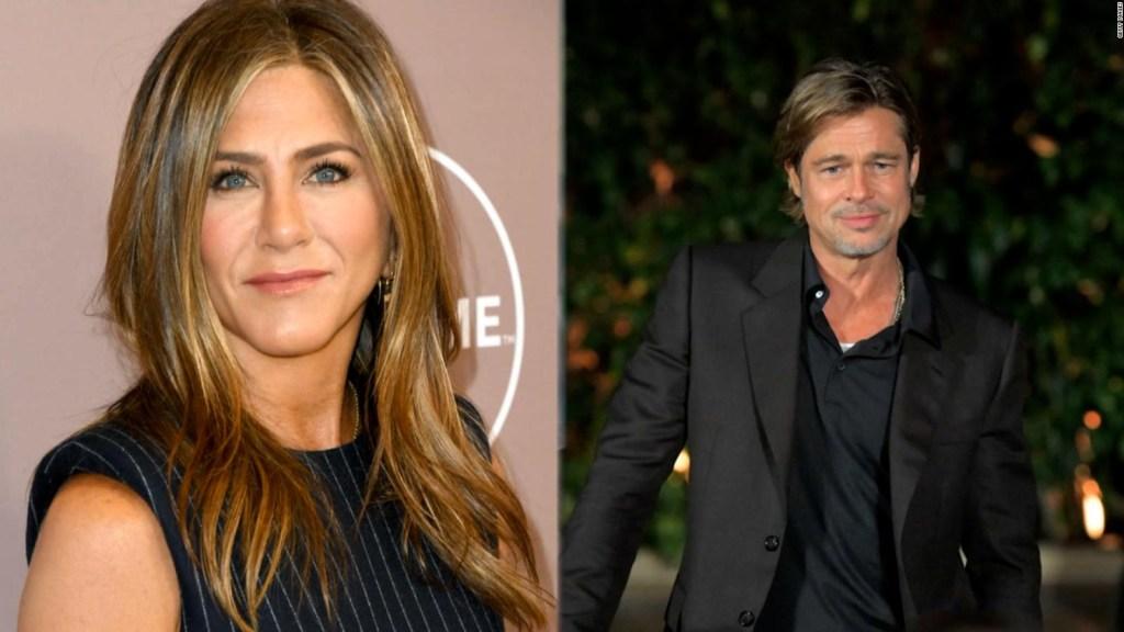 "Jennifer Aniston says she and Brad Pitt are ""friends"""