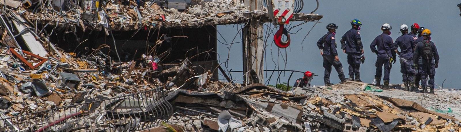 Escaparon derrumbe del edificio
