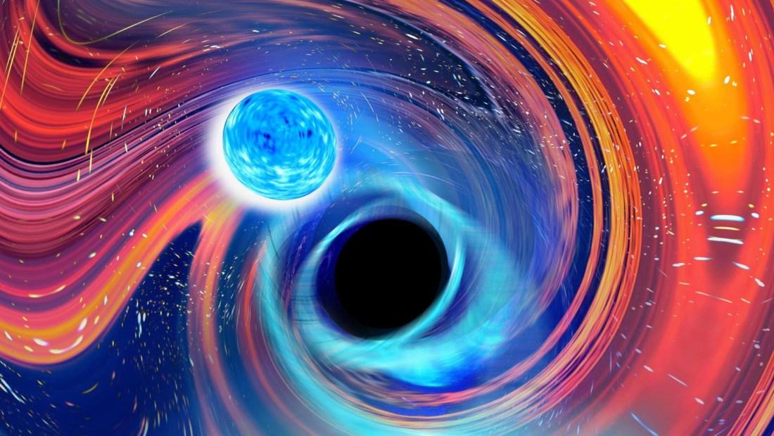 Un agujero negro 'Pac-Man' devora estrella de neutrones