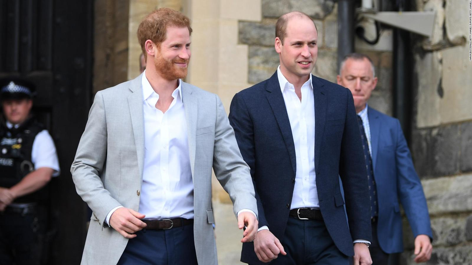 El reencuentro entre los príncipes Harry y William