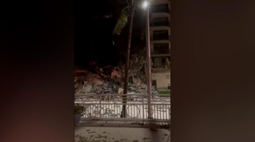 Dramatic videos taken before and after the collapse