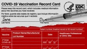 tarjeta vacunación CDC