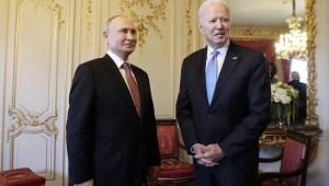 Putin y Biden en Suiza.