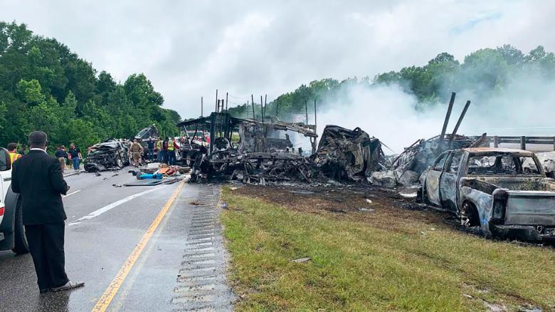 Accidente múltiple en Alabama