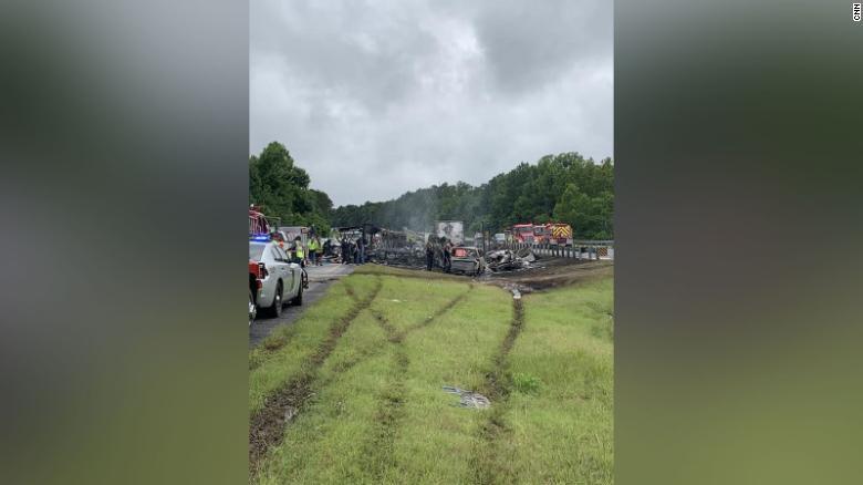 Accidente múltiple Alabama
