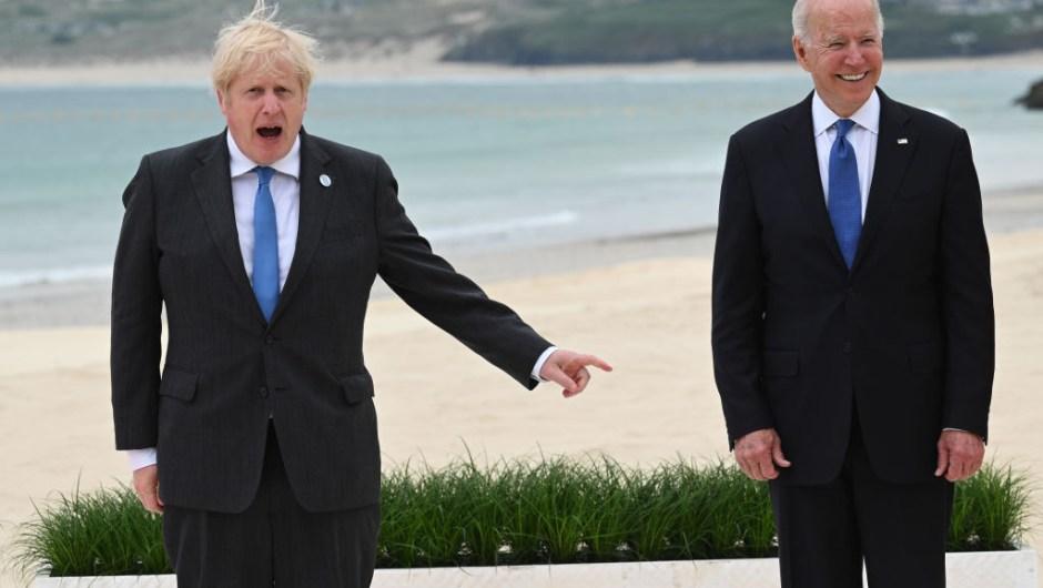 Johnson y Biden, en el inicio de la Cumbre del G7